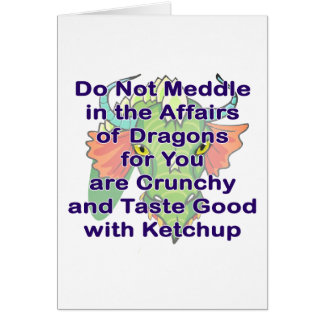 Not meddle purple dragon head stationery note card