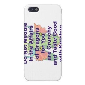 Not meddle purple dragon head iPhone 5 case