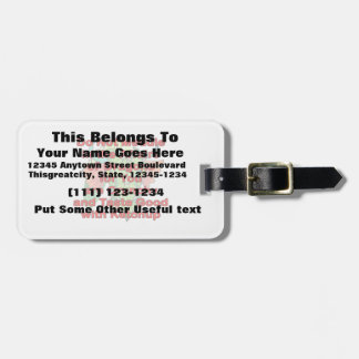 Not meddle red dragon head luggage tag