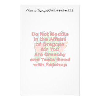 Not meddle red dragon head stationery