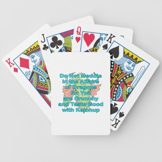 Not meddle teal dragon head bicycle playing cards