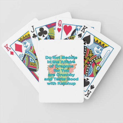 Not meddle teal dragon head bicycle poker deck