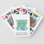 Not meddle teal dragon head card decks