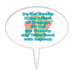 Not meddle teal dragon head oval cake topper
