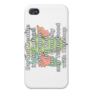 Not meddle white dragon head iPhone 4 cover