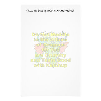 Not meddle yellow dragon head stationery