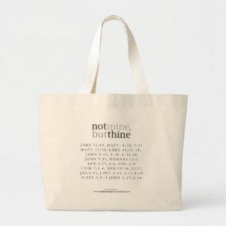 Not Mine, But Thine Tote Jumbo Tote Bag
