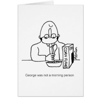 Not morning person card