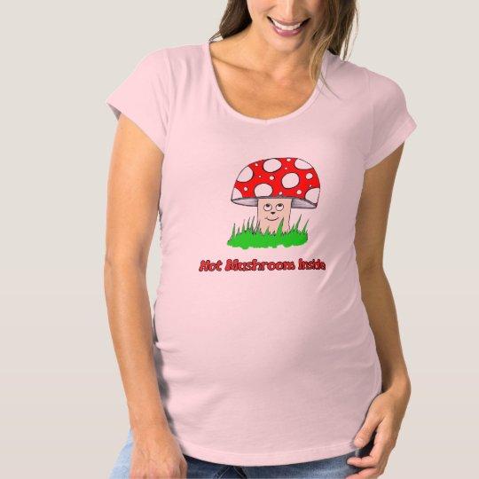 Not Mushroom Inside Maternity T-Shirt