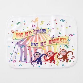 Not My Circus... Baby Burp Cloth