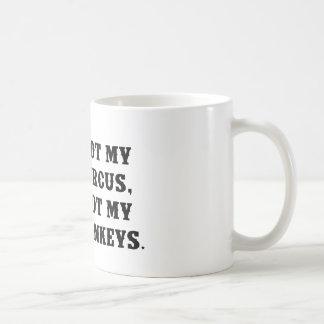 Not My Circus, Not My Monkeys Classic White Coffee Mug