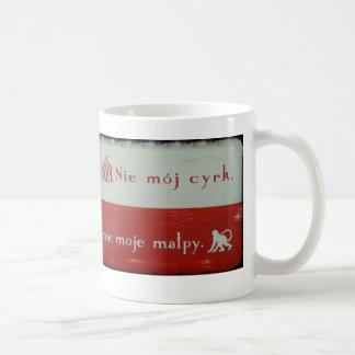 not my circus, not my monkeys mug- polish flag classic white coffee mug