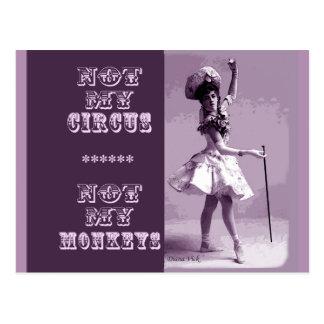 Not My Circus Postcard