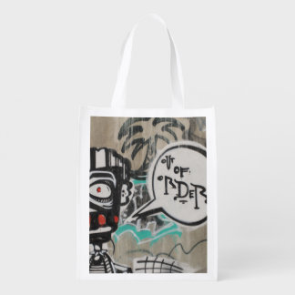 Not My Day Graffiti Reusable Grocery Bag
