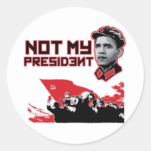 not my dear leader round sticker