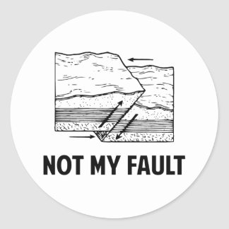 Not My Fault Classic Round Sticker