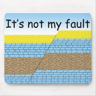 Not my fault mouse pad