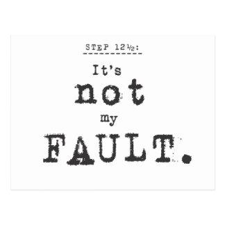 not my fault... postcard