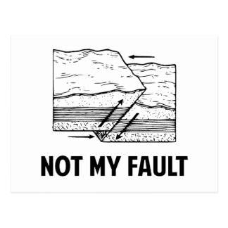 Not My Fault Postcard