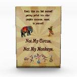 Not My Monkeys, Not My Circus Award