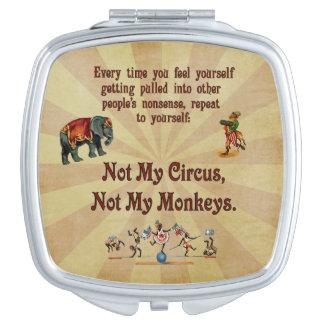 Not My Monkeys, Not My Circus Vanity Mirrors