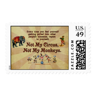 Not My Monkeys, Not My Circus Postage