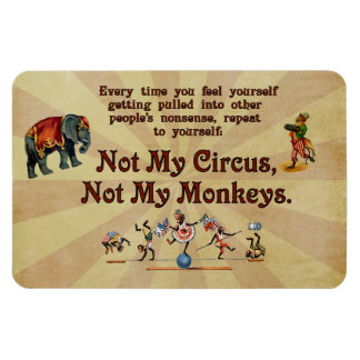Not My Monkeys Not My Circus Rectangle Magnets