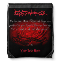Not My Will But Yours Be Done Mark 14:36 Scripture Drawstring Bag