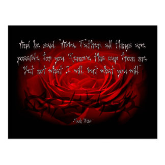 Not My Will But Yours Be Done Mark 14:36 Scripture Postcard