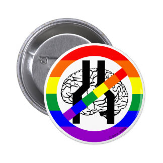 NOT NARROW BRAINED PINBACK BUTTON