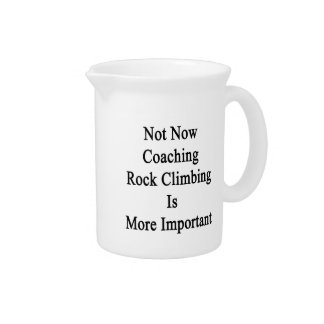Not Now Coaching Rock Climbing Is More Important Drink Pitchers