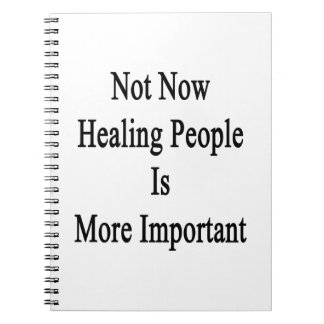 Not Now Healing People Is More Important Spiral Note Book