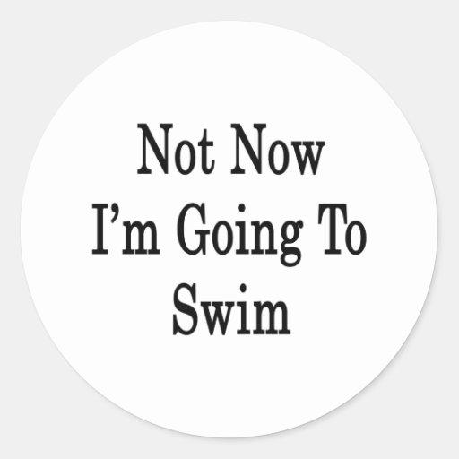 Not Now I'm Going To Swim Classic Round Sticker
