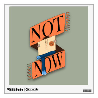 Not now, I'm reading Wall Sticker