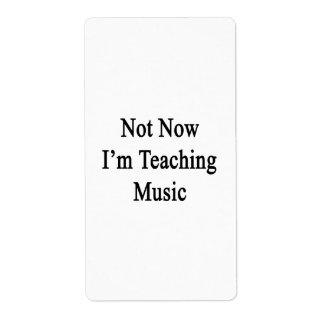 Not Now I'm Teaching Music Shipping Label