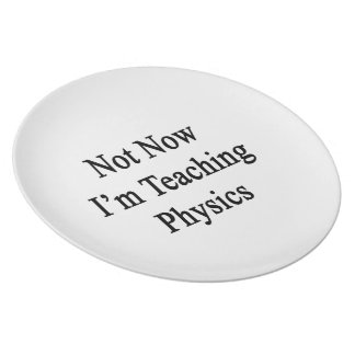 Not Now I'm Teaching Physics Party Plates