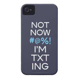 Not Now I'm Texting iPhone 4 Case-Mate Case