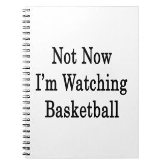 Not Now I'm Watching Basketball Spiral Note Books