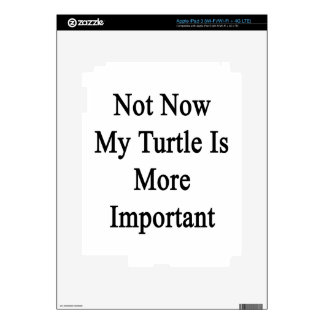 Not Now My Turtle Is More Important iPad 3 Decal