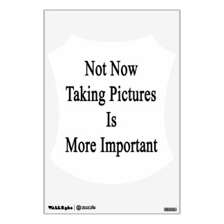 Not Now Taking Pictures Is More Important. Wall Sticker