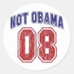 Not Obama 08 Vintage Classic Round Sticker