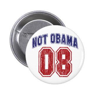 Not Obama 08 Vintage Pinback Button
