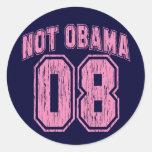 Not Obama 08 Vintage Round Sticker