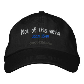 Not of this world gotGod316.com Embroidered Baseball Cap