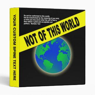 """Not of this World - religión cristiana del verso d Carpeta 1"""""""