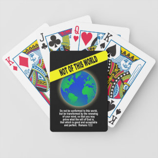 Not of this World - Romans Christian Bible Verse Bicycle Playing Cards