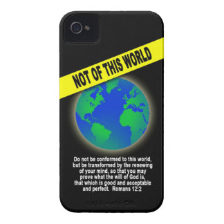 Not of this World - Romans Christian Bible Verse iPhone 4 Covers