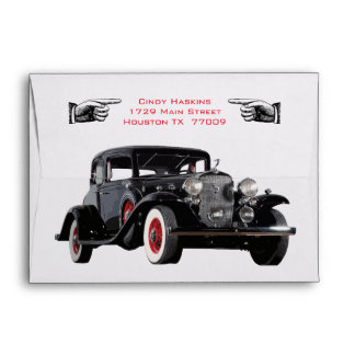 Not Old But Classic Vintage Car Envelope