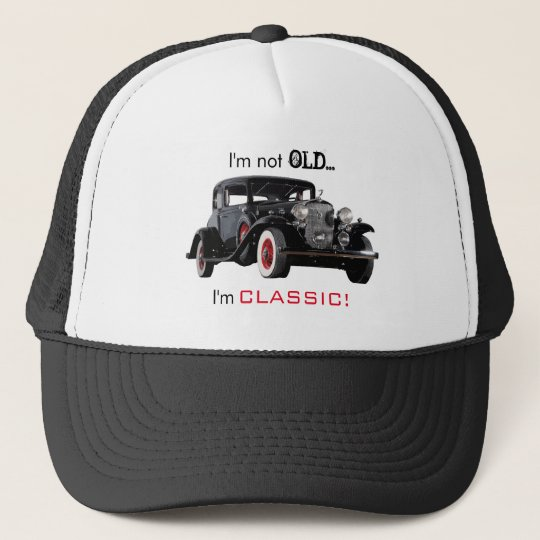 4adb81806 Not Old But Classic Vintage Car Funny Trucker Hat