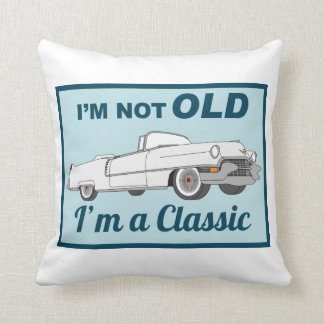 Not Old but Classic white Throw Pillow